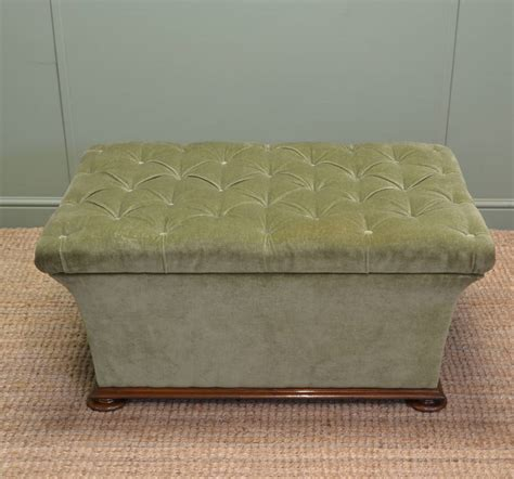 Large Upholstered Ottoman by Large Quality Antique Upholstered Ottoman