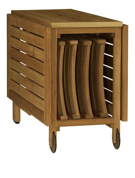 table pliante 4 chaises intégrées zeno table pliante en chêne massif huilé pinteres