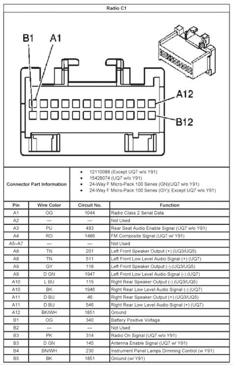 chevy silverado radio wiring harness diagram  wiring diagram