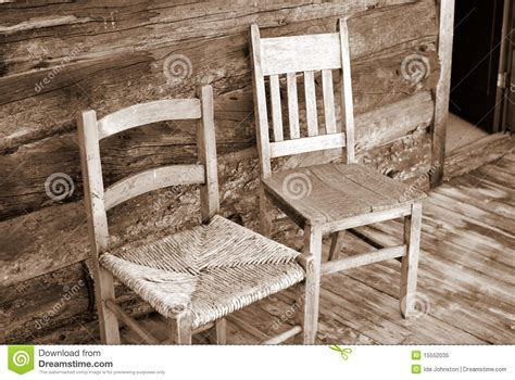 antique wooden chairs on porch stock image image 15552035