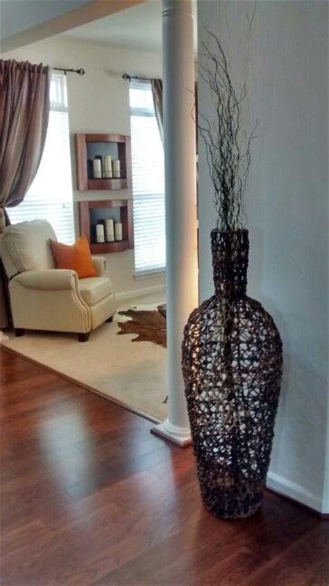 Large wicker floor vase. #makehomeyours | Floor vase decor ...