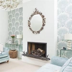 Elegant living room classic living room design for Wallpaper designs for living room wall