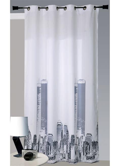 rideau york chambre rideau en bachette imprimé york blanc homemaison