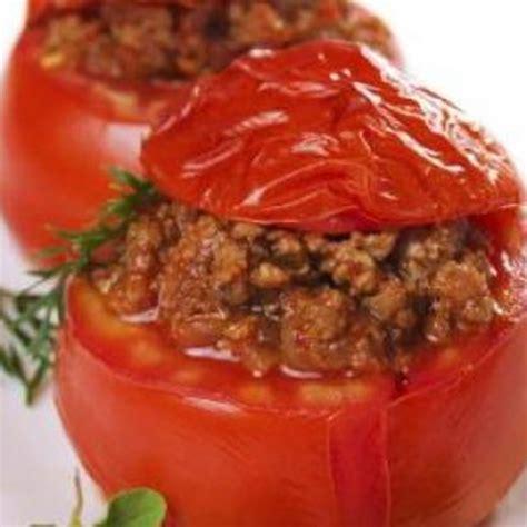 3 recettes de cuisine recette tomates farcies à la viande hachée