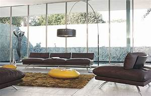 living room inspiration 120 modern sofas by roche bobois With tapis de sol avec canapé semi cuir