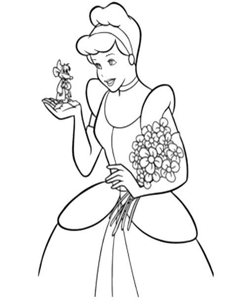 disegni di cenerentola da colorare disegno di cenerentola con abito matrimonio da