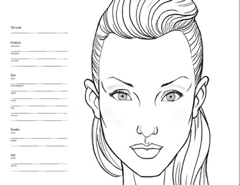 female model template blank coloring coloring pages
