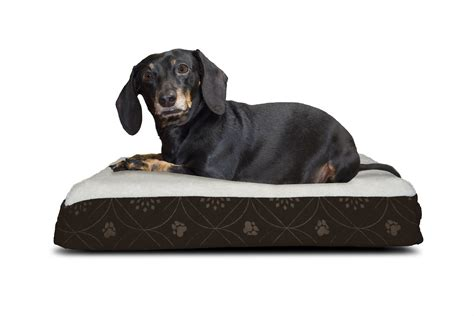Furhaven Pet Bed by Furhaven Nap Pet Bed Deluxe Flannel Egg Crate Orthopedic