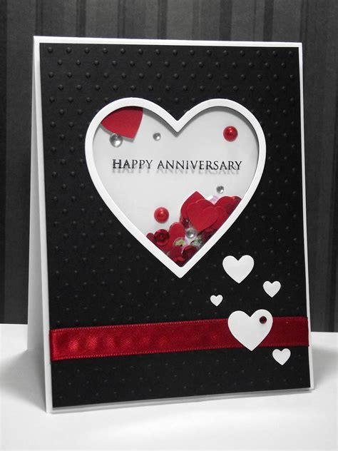 My Inky Corner Shaker Anniversary Card