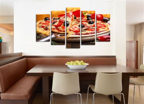 decorations for restaurants wall decoration set of 5 pieces pizza