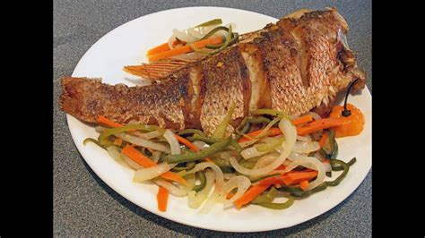 cook fried red snapper escovitch youtube