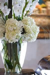 White Hydrangea and Gladiolus Arrangements