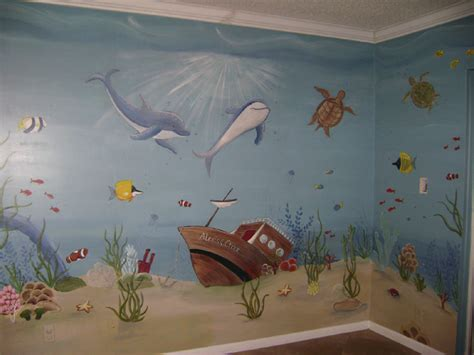tropical reef murals children s murals in palm