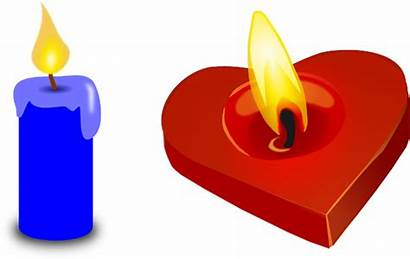 Candle Valentine Heart Valentines Yellow Flameless Transparent
