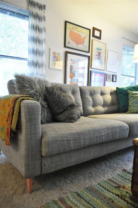 ikea hack   karlstad sofa  mid century mod