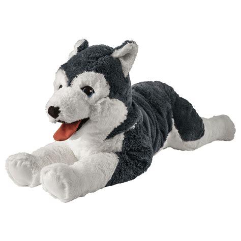 livlig soft toy dog husky siberian husky   ikea