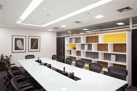 White Decoration Business Conference Room With 22 Cozy