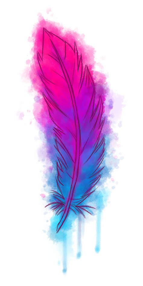 library  watercolor feather heart   png