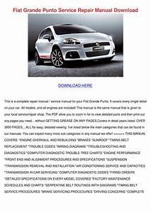 Fiat Grande Punto Service Repair Manual Downl By Kera