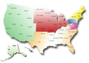 50 States Regions Maps