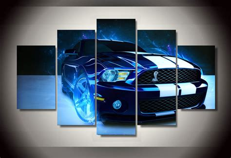 panels racing sports car group artwork multi canvas art