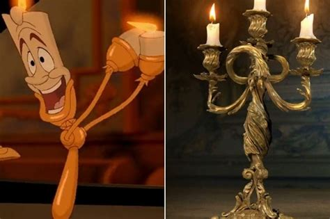 Lumiere & Cogsworth In The Live Action 'beauty