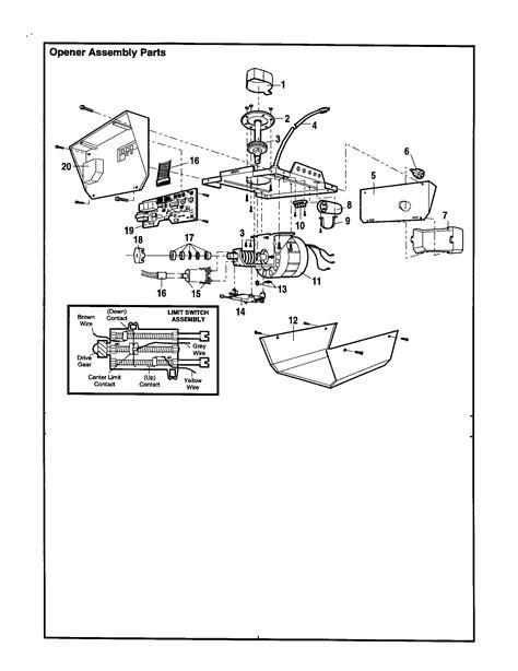 opener assembly diagram parts list for 13953650srt craftsman parts garage door opener