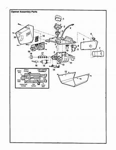 Opener Assembly Diagram  U0026 Parts List For Model 13953650srt