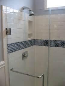 glass subway tile bathroom ideas best 25 glass tile shower ideas on