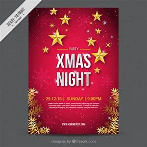 Great christmas brochure with snowflakes and stars vector free download for Christmas brochure templates
