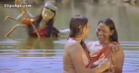 Indian Village Ladies Bathing Nude In Pond From Movie