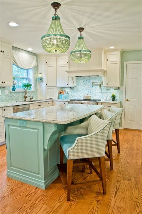 coastal kitchen decor turquoise and aqua kitchen ideas refresh restyle 2276