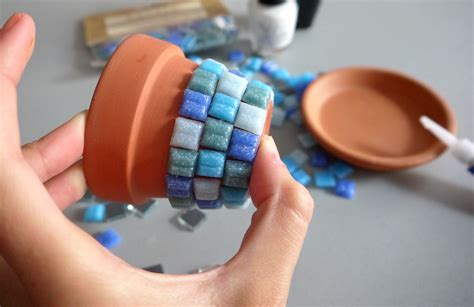 diy mosaic tile flower pot because plants need to dress well pumps iron