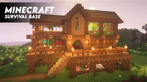 minecraft ultimate survival base ultimate survival house timelapse youtube