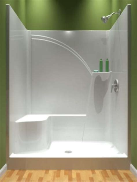 5 Foot Fiberglass Shower by Shower Only One