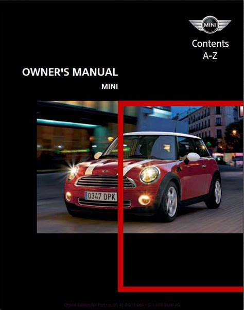 car owners manuals free downloads 2011 mini cooper countryman electronic valve timing mini cooper 2007 owner s manual pdf online download