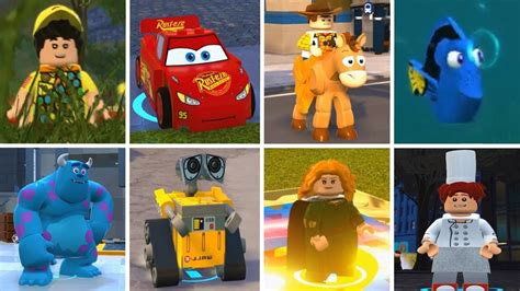 All Pixar Characters (cars, Toy