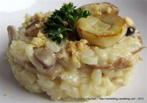cepes cuisine risotto crémeux aux cèpes et cantal entre deux un grain