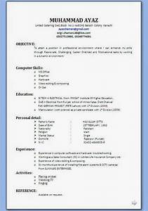 Making a resume in word