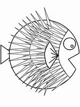 Coloring Puffer Fish Sharp Spines Pages Pufferfish Drawing Very Drawings Easy Blowfish Getdrawings Getcoloringpages 800px 77kb sketch template