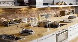 Deco Mur De Cuisine : decoration cuisine brique ~ Zukunftsfamilie.com Idées de Décoration