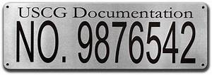 Quality stainless steel uscg documentation plaque for Uscg documentation plaque