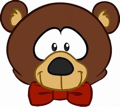 Bear Teddy Head Clipart Cartoon Bears Penguin
