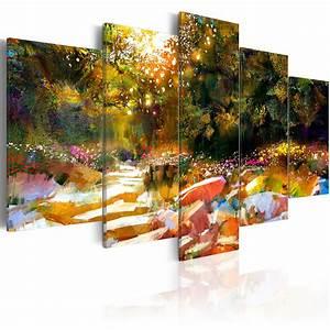 Bilder Natur Leinwand : leinwand bilder xxl kunstdruck dbild abstrakt wie gemalt natur c b 0092 b m ebay ~ Markanthonyermac.com Haus und Dekorationen