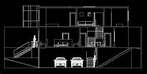 House With Two Port Garage 2d Dwg Plan For Autocad