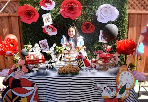 alice  wonderland birthday party ideas photo