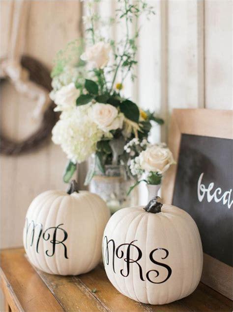 fall wedding ideas  pumpkins deer pearl flowers
