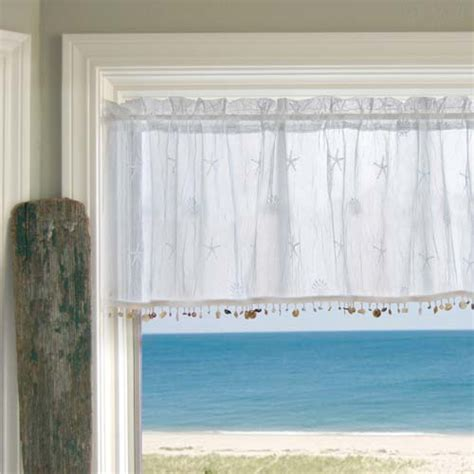 sand shell valances and tiers