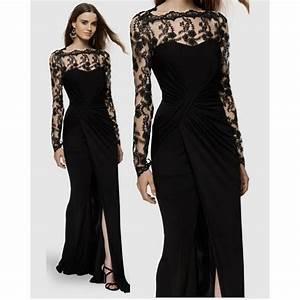robe soiree longue manche dentelle la mode des robes de With robe de soirée manche longue dentelle
