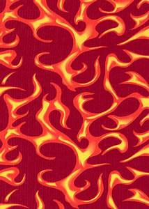 Dye Sublimation Service For Flames Of Fire Print Library Sold By The Yard